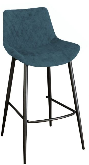 Piper Collection Set Of 2 Piper Barstool - Mineral Blue