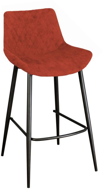 Piper Collection Set Of 2 Piper Barstool - Burnt Orange
