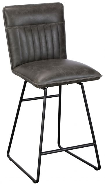 Greatford Dining Collection Vintage Bar Stool Grey