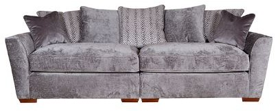 Venus Sofa Collection 4 Seater Modular Fabric - D Range Fabric - Pillowback