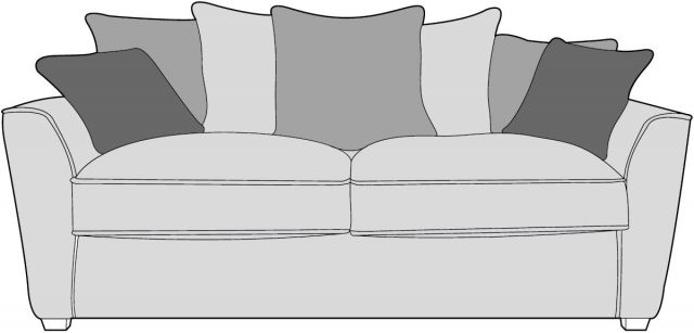 Venus Sofa Collection 3 Seater Fabric - D Range Fabric - Pillowback