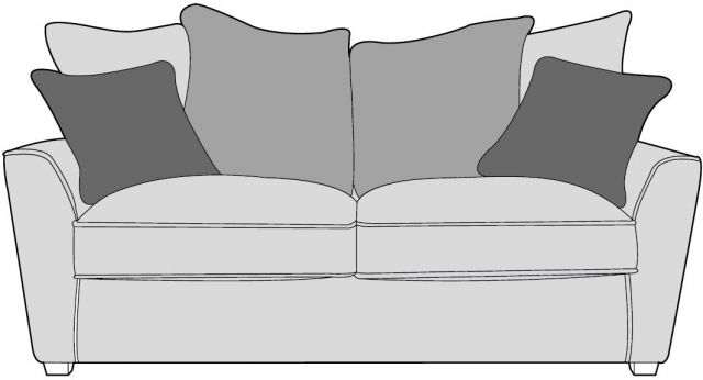 Venus Sofa Collection 2 Seater Fabric - D Range Fabric - Pillowback