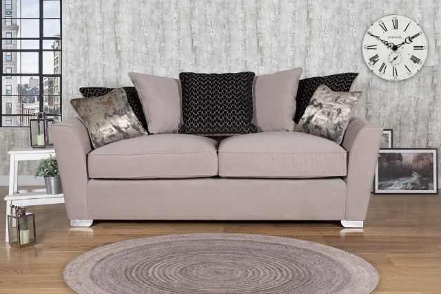 Venus Sofa Collection Corner Settee 2 Piece RHF Chaise/LHF Arm - Including Footstool Fabric - D Rang