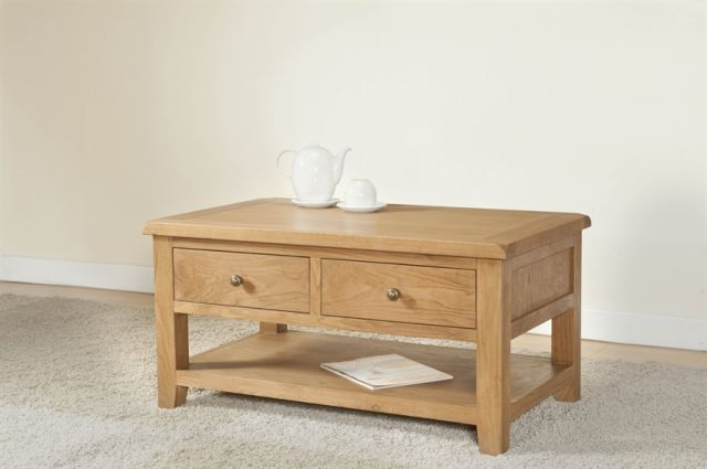 Stowell Dining Collection Coffee Table with Drawers