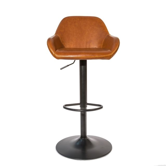 Stylebook Collection Chevy Gas Lift Barstool Tan SET OF 2