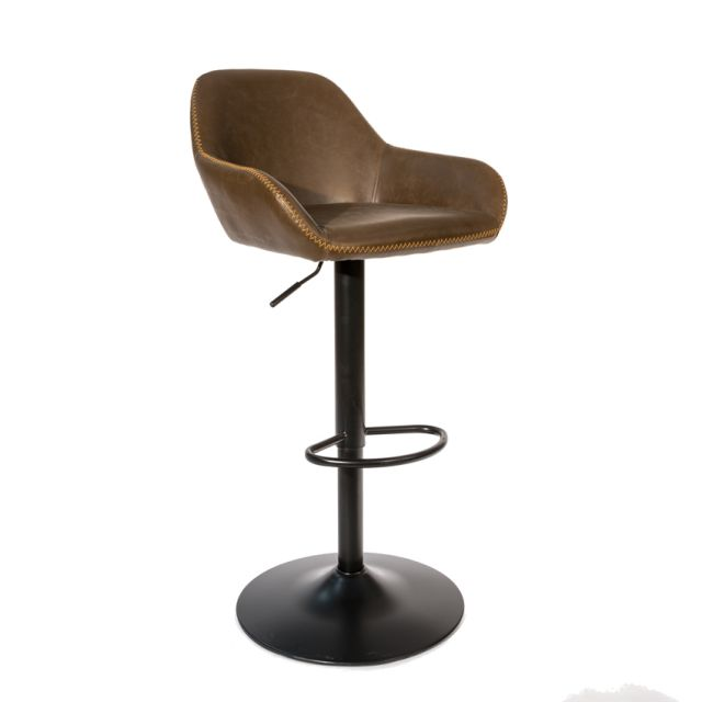 Stylebook Collection Chevy Gas Lift Barstool Chestnut Vintage SET OF 2