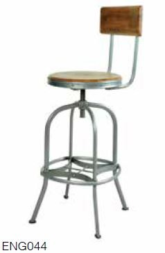 Stylebook Collection Bar Stool with Back Rest