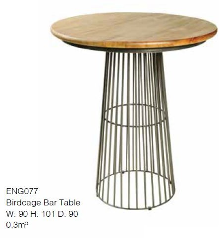 Stylebook Collection Birdcage Bar Table with Mango Top
