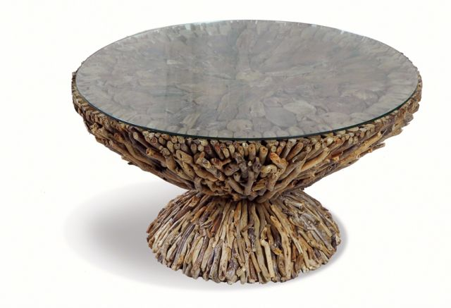 Stylebook Collection Driftwood Round Coffee Table
