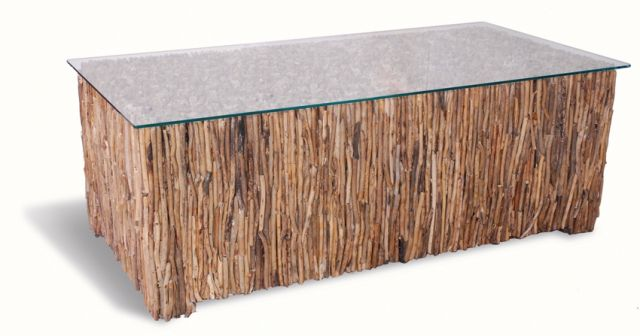 Stylebook Collection Driftwood Rectangular Coffee Table
