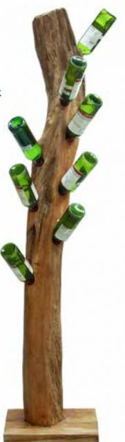 Stylebook Collection Natural Teak Root Freestanding Wine Rack 8 bottles