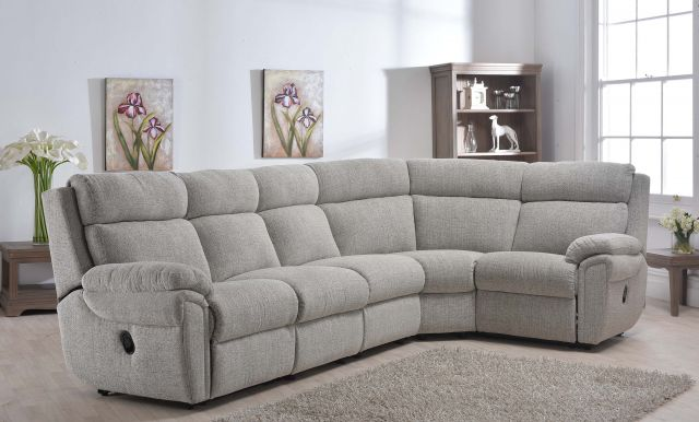 Cologne Collection 1 Corner 3 Power Recliner Settee ; Fixed Headrest ; Fabric