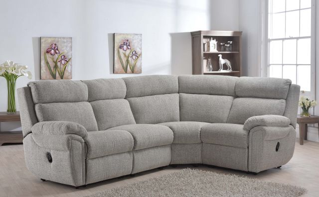 Cologne Collection 2 Corner 1 Manual Recliner Settee ; Fabric