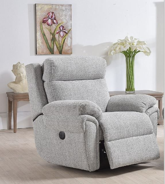 Cologne Collection Powered Recliner Chair ; Power Headrest ; Fabric