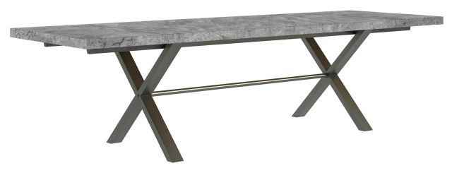 Studio Collection 190cm Dining Table - Stone Effect