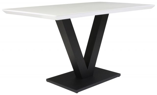 Gratton Collection Dining Table White Gloss 135cm