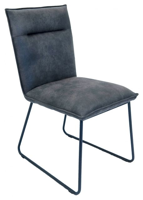 Gratton Collection Dining Chair - Grey Suede