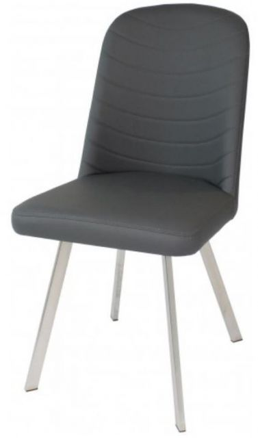 Star Collection Dining Chair - Grey PU
