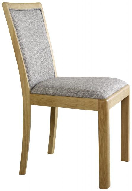 Braemer Dining Collection Upholstered Back Chair Grey Fabriv