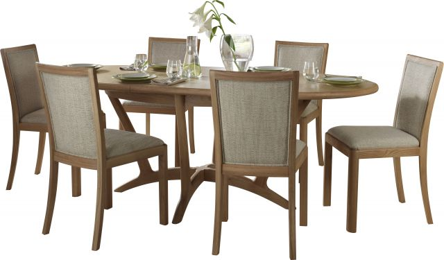 Braemer Dining Collection Wooden Back Chair Natural Fabric