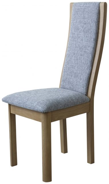 Braemer Dining Collection High Back Chair Grey Fabric