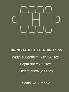 Braemer Dining Collection Dining Table Extending  6-10