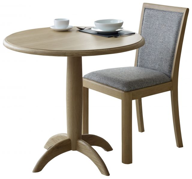 Braemer Dining Collection Compact Round Fixed Top Dining Table
