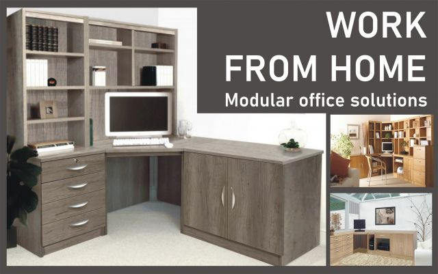 Home Office Collection Corner Desk With OSJ Hutch