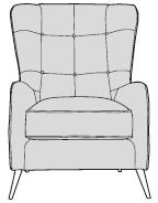 Mars Sofa Collection Accent Chair   - A GRADE
