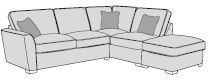 Mars Sofa Collection Corner Settee 2 Piece RHF Chaise/LHF Arm Including Footstool Classicback  - A G