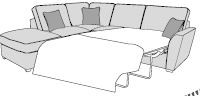 Mars Sofa Collection Corner Settee Standard Sofa Bed LHF Chaise/RHF Arm Inc Footstool Classicback  -