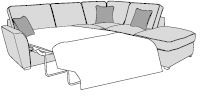 Mars Sofa Collection Corner Settee Standard Sofa Bed RHF Chaise/LHF Arm Inc Footstool Classicback  -