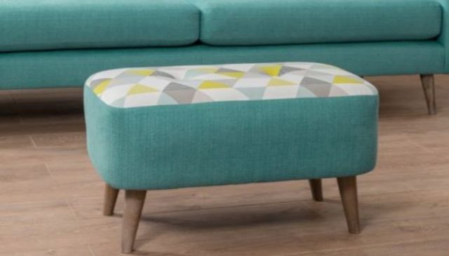 Lurano Sofa Collection Designer Large Bench Stool - Grade A Fabric