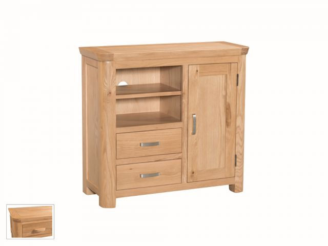Suffolk Oak Dining Collection Media Unit Sideboard