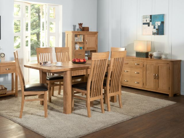Suffolk Oak Dining Collection Low Bookcase