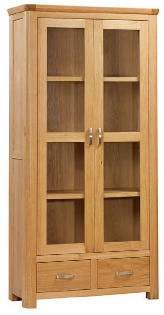 Suffolk Oak Dining Collection Display Cabinet