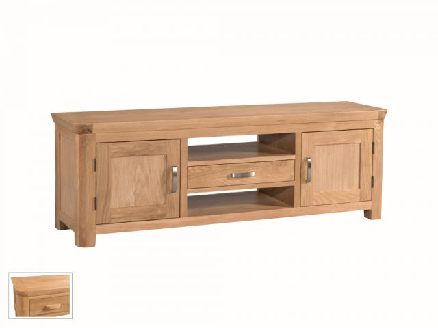 Suffolk Oak Dining Collection Wide Straight TV Unit