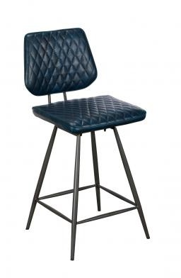 Remus Chair Collection Barstool - Counter Chair (Dark Blue)