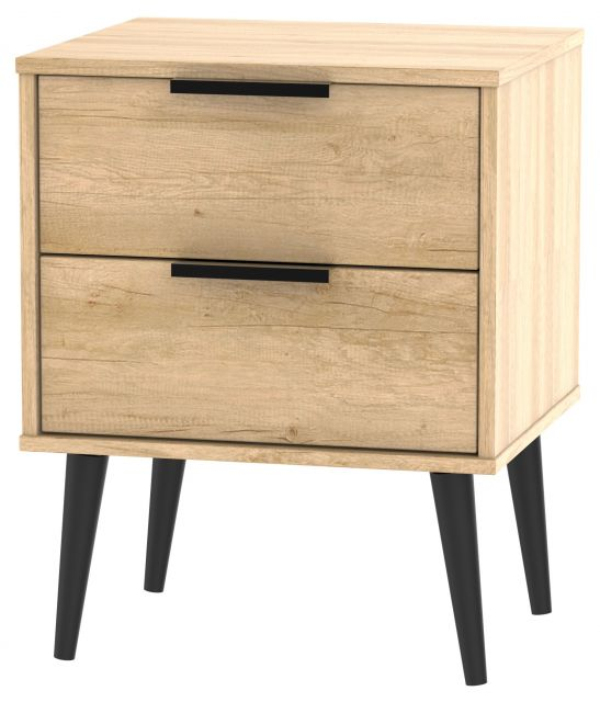Bahrain Bedroom Collection 2 Drawer Locker Nebraska Oak