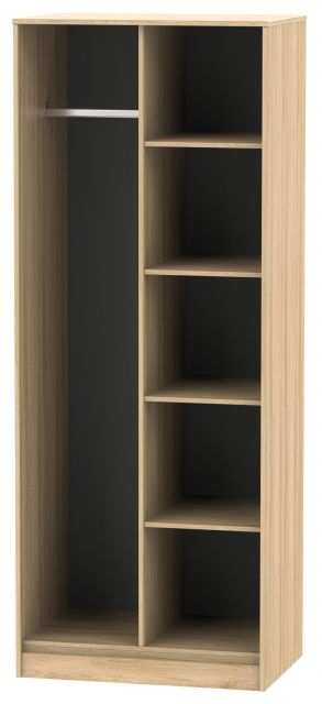 Bahrain Bedroom Collection Open Shelf Wardrobe Nebraska Oak