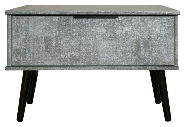 Bahrain Bedroom Collection 1 Drawer Midi Chest Pewter