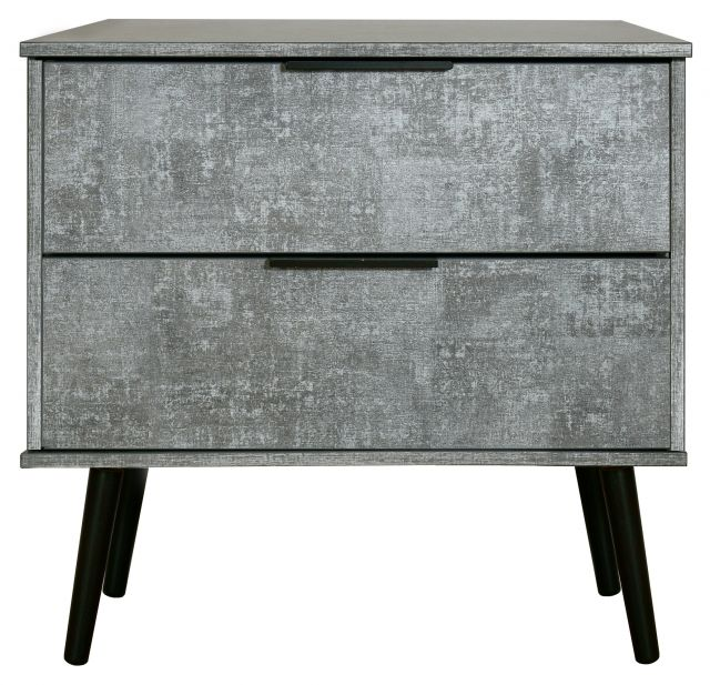 Bahrain Bedroom Collection 2 Drawer Midi Chest Pewter