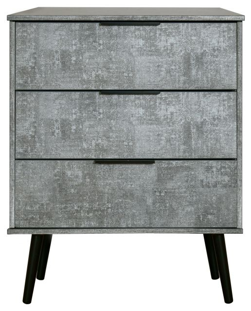 Bahrain Bedroom Collection 3 Drawer Midi Chest Pewter