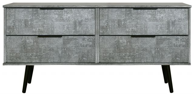 Bahrain Bedroom Collection 4 Drawer Bed Box Pewter