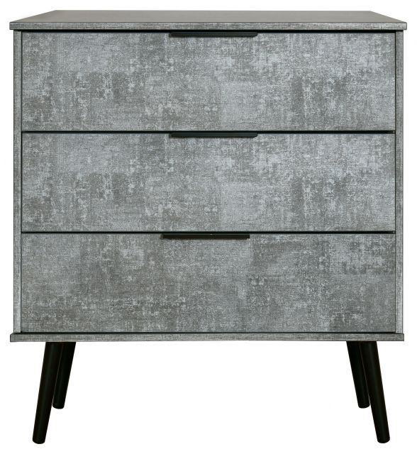 Bahrain Bedroom Collection 3 Drawer Chest Pewter