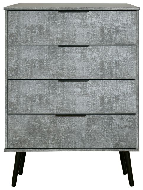 Bahrain Bedroom Collection 4 Drawer Chest Pewter