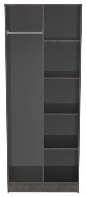 Bahrain Bedroom Collection Open Shelf Wardrobe Pewter