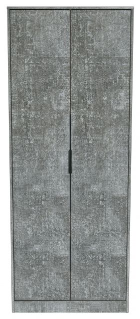 Bahrain Bedroom Collection 2 Door Wardrobe Pewter