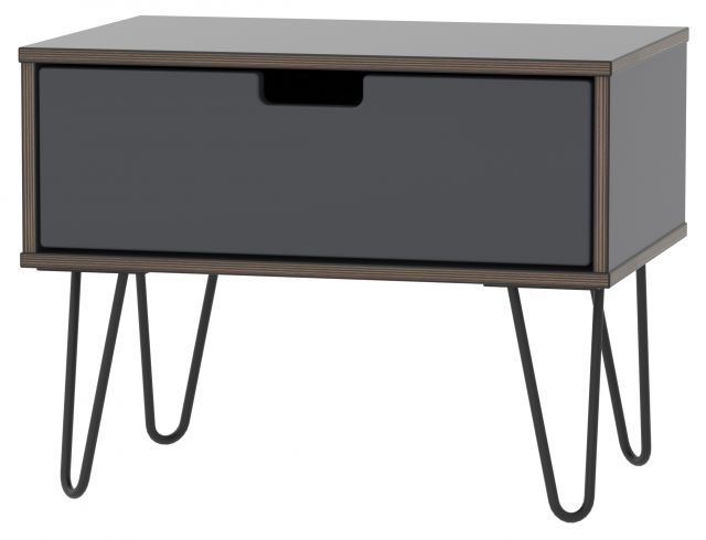 Muscat Bedroom Collection 1 Drawer Midi Chest Graphite