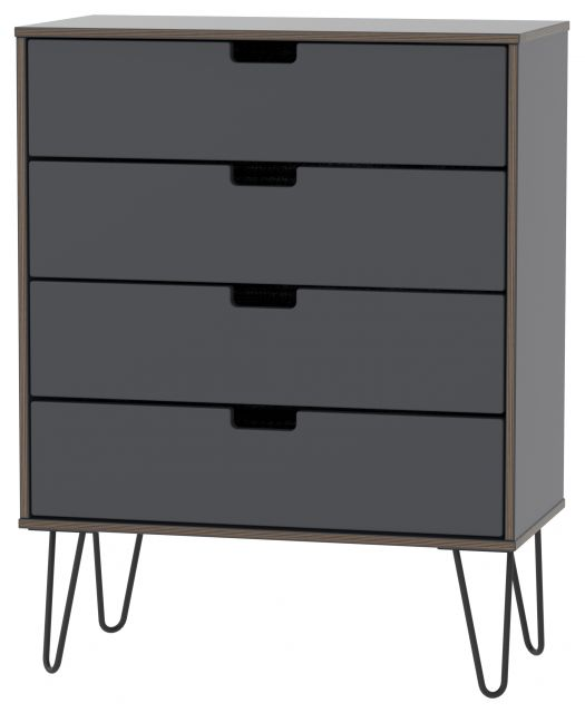 Muscat Bedroom Collection 4 Drawer Chest Graphite